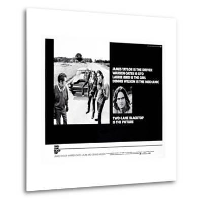 Two-Lane Blacktop--Metal Print