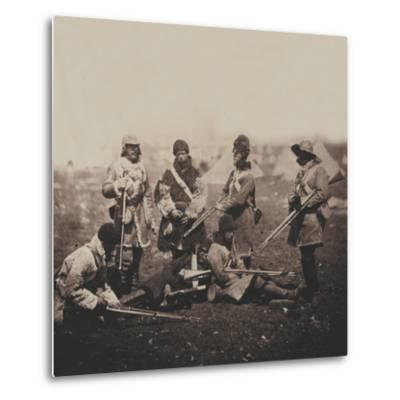 Men of the 68th (Durham) Regiment of Foot (Light Infantry) in Winter Dress, from an Album of 52…-Roger Fenton-Metal Print