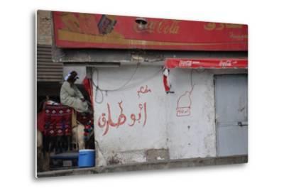 A Street in Cairo--Metal Print