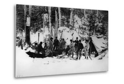 Prince Arthur's Moose Hunting Expedition in Canada, C.1870-English Photographer-Metal Print