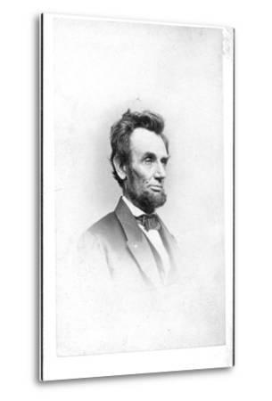 President Lincoln in the Last Week of His Life, 1865-Mathew Brady-Metal Print