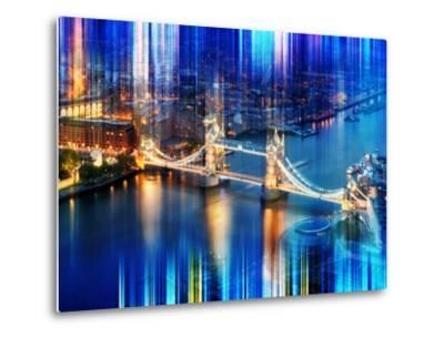 Urban Stretch Series - The Tower Bridge over the River Thames by Night - London-Philippe Hugonnard-Metal Print