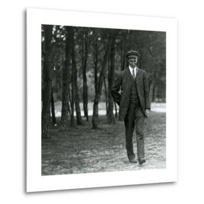 Wilbur Wright in France, 1909--Metal Print