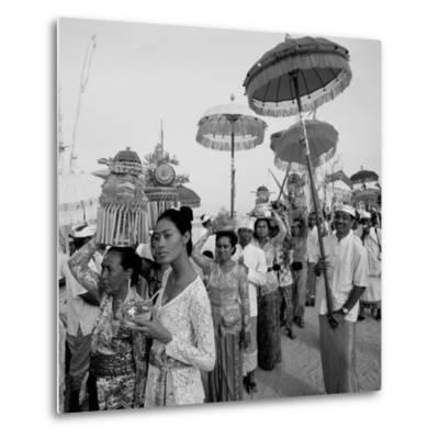 Temple Procession--Metal Print