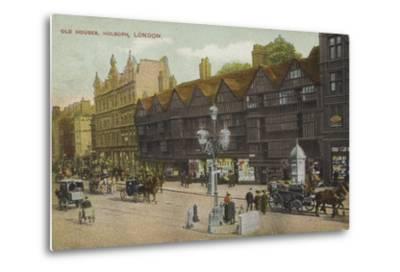 Old Houses, Holborn, London--Metal Print