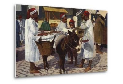 Fruit Seller, Tangier--Metal Print