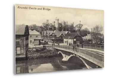 Arundel Castle and Bridge--Metal Print