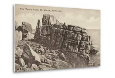 The Tooth Rock, St Mary'S, Scilly Isles--Metal Print