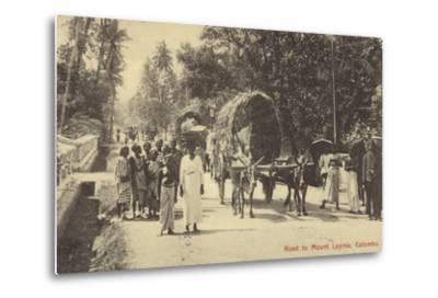 Road to Mount Lavania in Colombo--Metal Print