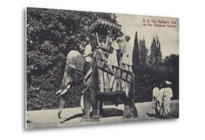 The Holkar's Son on the Elephant in Indore--Metal Print