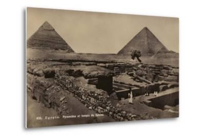 Pyramids and Temple of the Sphinx, Giza, Egypt--Metal Print
