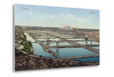 Salt Ponds, Cadiz, Spain--Metal Print