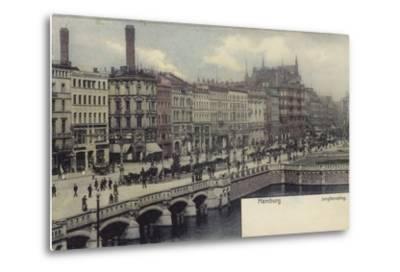 Postcard Depicting a General View of Hamburg--Metal Print