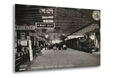 Birmingham Express at Rugby Platform--Metal Print