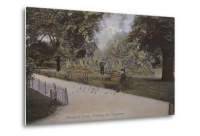 Regent's Park, Feeding the Sparrows--Metal Print