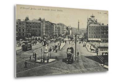 O'Connell Bridge and Sackville Street, Dublin--Metal Print