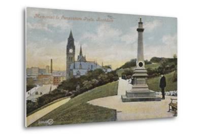 Memorial to Lancashire Poets, Rochdale--Metal Print