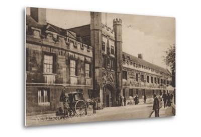 Christs College, Cambridge--Metal Print