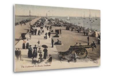 The Esplanade and Beach, Southsea--Metal Print