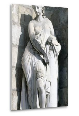 Statue from Palace of Fontainebleau--Metal Print