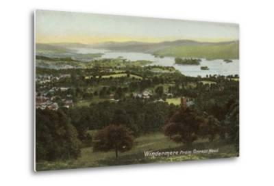 Windermere from Orrest Head, Lake District--Metal Print