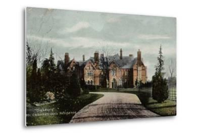 Highbury, Mr Chamberlain's Residence--Metal Print