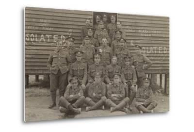 British Soldiers in Front of a Barracks--Metal Print
