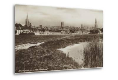 Stamford, Lincolnshire, from the Meadows--Metal Print