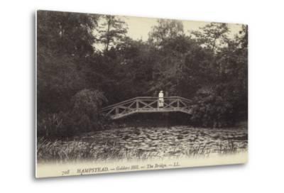 Hampstead, Golders Hill, the Bridge--Metal Print