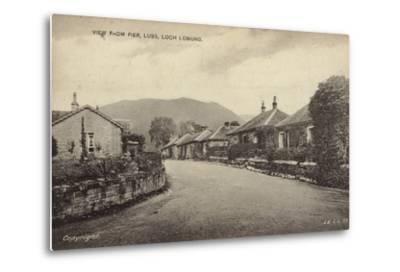 View from Pier, Luss, Loch Lomond--Metal Print