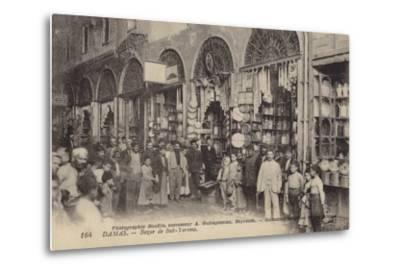 Bazaar, Damascus, Syria--Metal Print