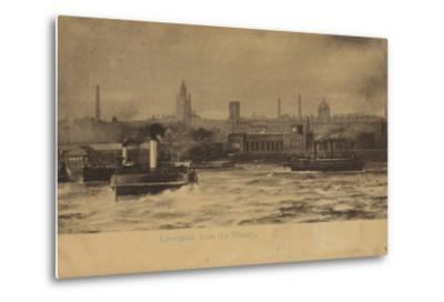 Liverpool, from the Mersey-English Photographer-Metal Print