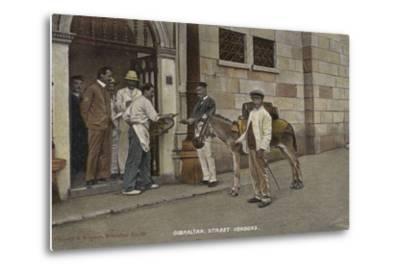 Street Vendors, Gibraltar--Metal Print