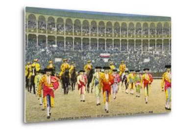 Bull Fight in Spain, Early 20th Century--Metal Print