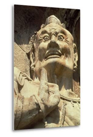 Figure of a Demon, Longmen Caves, Henan Province--Metal Print