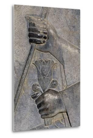 Bas-Relief from Treasure Room, Persepolis--Metal Print