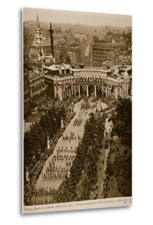 Victory March in London, July 19Th, 1919--Metal Print