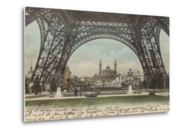 Postcard Depicting Le Trocadero--Metal Print