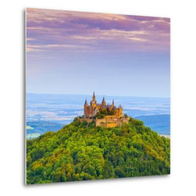 Hohenzollern Castle and Surrounding Countryside at Sunrise, Swabia, Baden Wuerttemberg-Doug Pearson-Metal Print