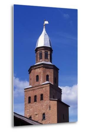 Tower on City Walls of Novgorod Kremlin--Metal Print