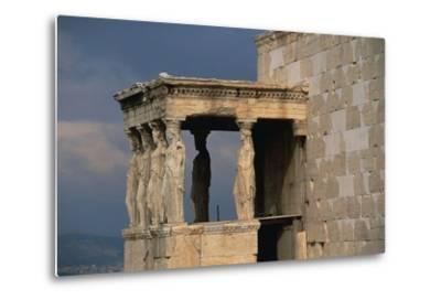 Caryatids Porch of the Erechtheion, Acropolis--Metal Print