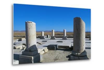 Ruins of Royal Palace of Cyrus Great, Pasargad--Metal Print