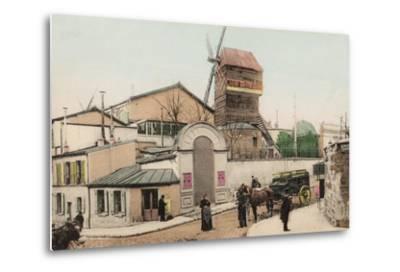 Moulin De La Galette, Montmartre, 1900--Metal Print