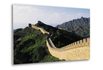 Segment of Great Wall, 1505, in Badaling--Metal Print