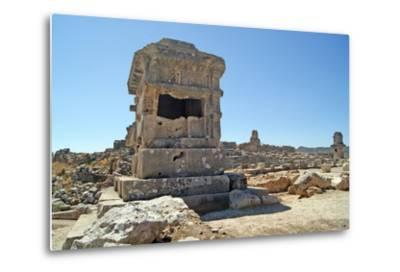 Pillar Tomb, Xanthos, Turkey--Metal Print