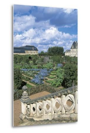 Chateau De Villandry and Gardens, Loire Valley--Metal Print