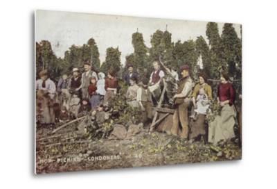 Hop Picking Londoners--Metal Print