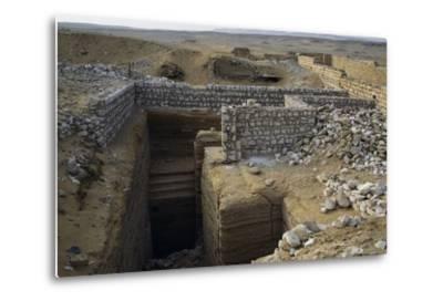 View of Saqqara Necropolis, Memphis--Metal Print