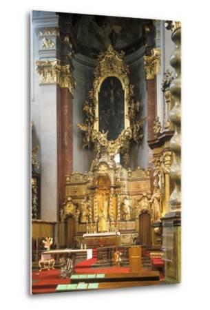 Main Altar of the Church of St. Giles in Prague, Czech Republic--Metal Print