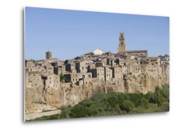 The Town of Pitigliano, Maremma, Tuscany, Italy--Metal Print